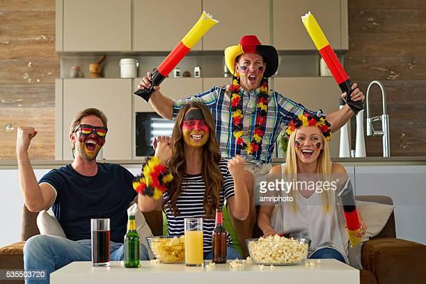 cheering german soccer fans