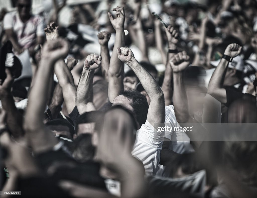 Cheering People : Stockfoto