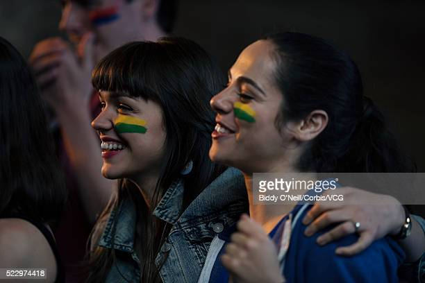 Cheering sports fans
