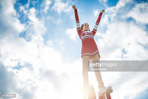 Cheerleadear on top of the success