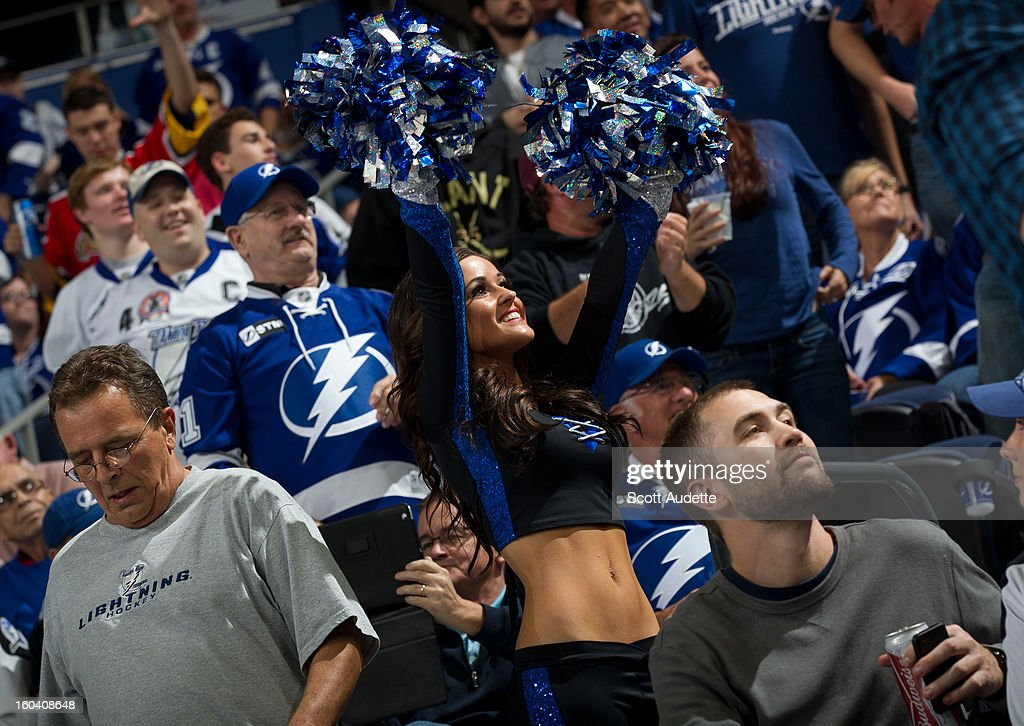 Cheerleader of the Tampa Bay Lightning against the Florida Panthers at the Tampa Bay Times Forum on January 29, 2013 in Tampa, Florida.