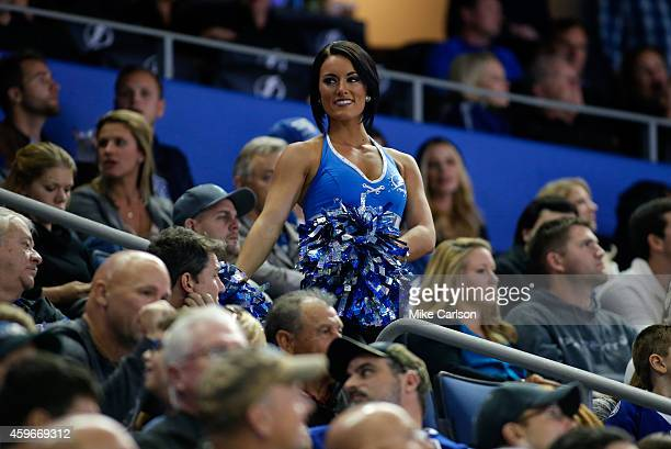 A cheerleader of the Tampa Bay Lightning at the Amalie Arena on November 26 2014 in Tampa Florida