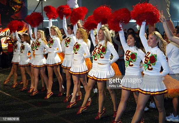 USC cheerleaders at the Rose Bowl kickoff luncheon in Pasadena Calif on Tuesday January 3 2006