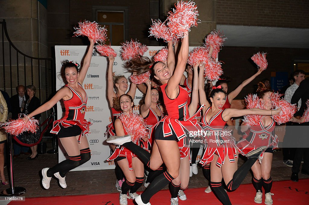 Cheerleaders cheer at the 'All Cheerleaders Die' premiere during the 2013 Toronto International Film Festival at Ryerson Theatre on September 5 2013...