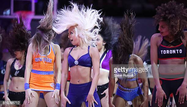 Cheerleaders dance during the opening ceremony during the 65th NBA AllStar Game at the Air Canada Centre in Toronto February 14 2016