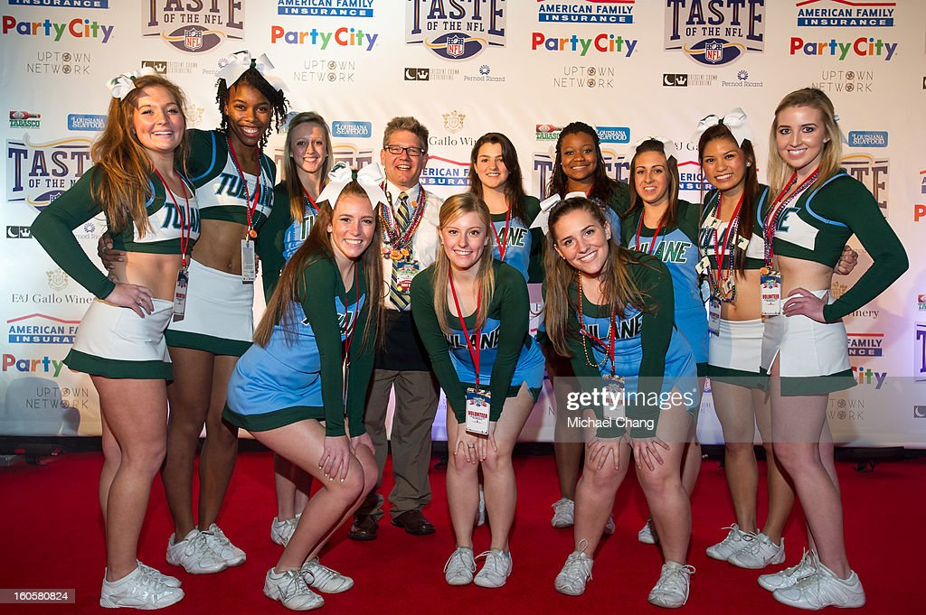 Cheerleaders from Tulane University attends the 2013 Taste of the NFL at the Ernest N. Morial Convention Center on February 2, 2013 in New Orleans, Louisiana.