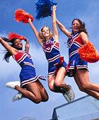 Cheerleaders Jumping