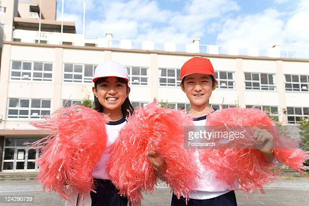 Cheerleaders on Sports Day