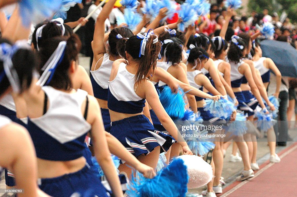 Cheerleading women : Stock Photo