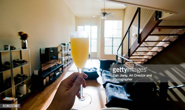 Cheers, a mimosa toast in the morning