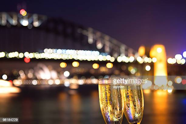 Cheers! champagne at night
