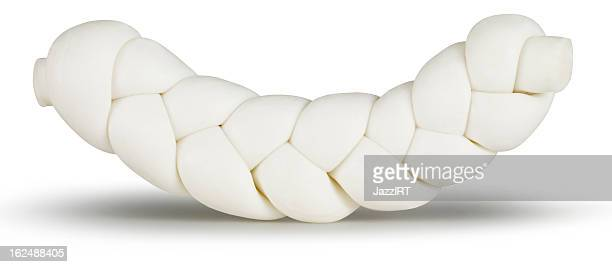 Cheese, Örgü peynir. (isolated with clipping path over white background)