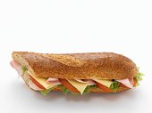 Cheese and ham baguette