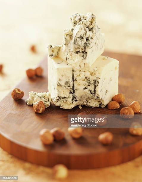 Cheese and hazelnuts