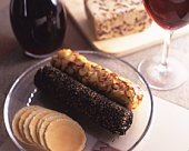 Cheese and Red Wine, High Angle View, Differential Focus