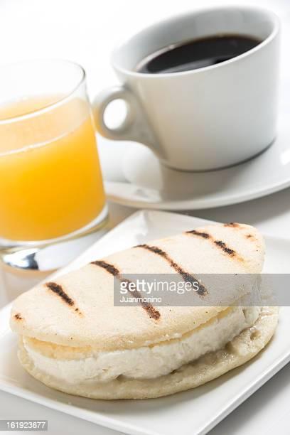 Queijo Arepa pequeno-almoço