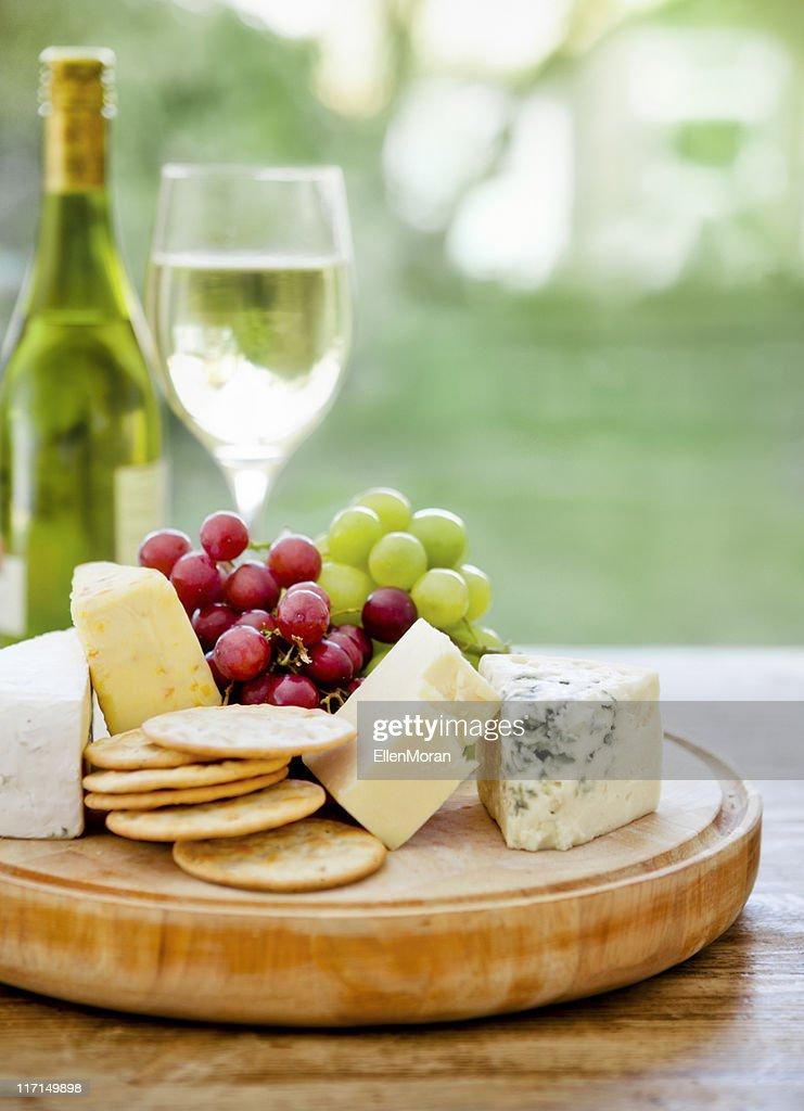 Cheese Board and Wine : Stock Photo