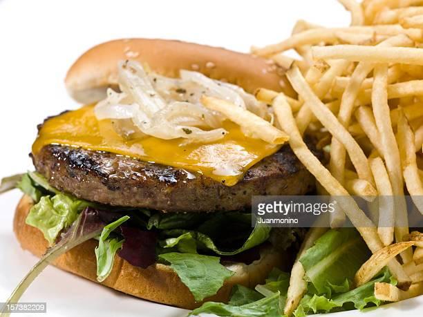 Cheese Burger close up