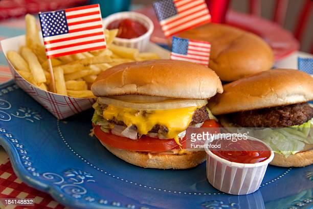 Queso para asar hamburguesas, hamburguesa & del 4 de julio, Día del Trabajo (primer domingo de Picnic alimentos