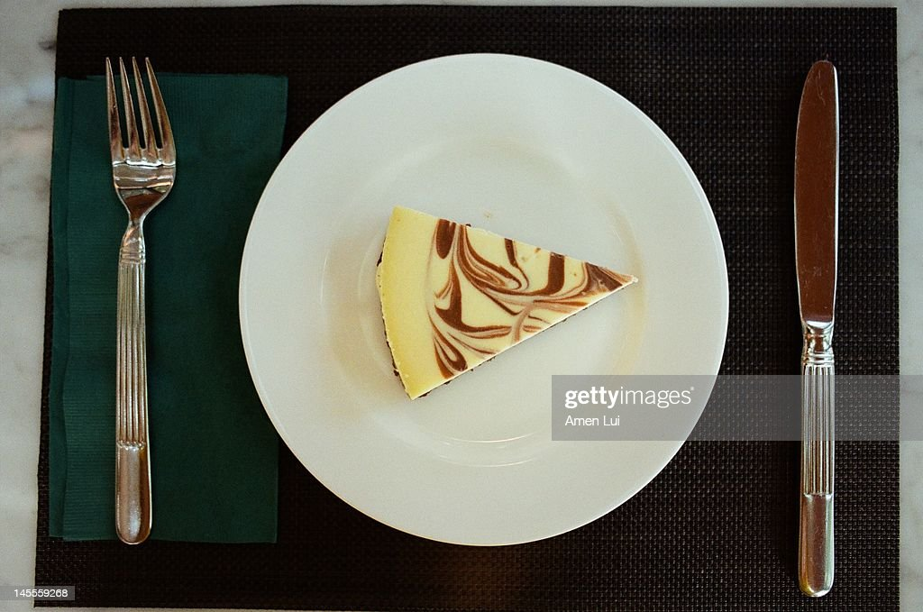 Cheese cake on table : Stock Photo