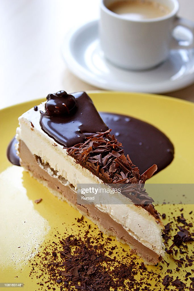 cheese cake with coffee : Stock Photo