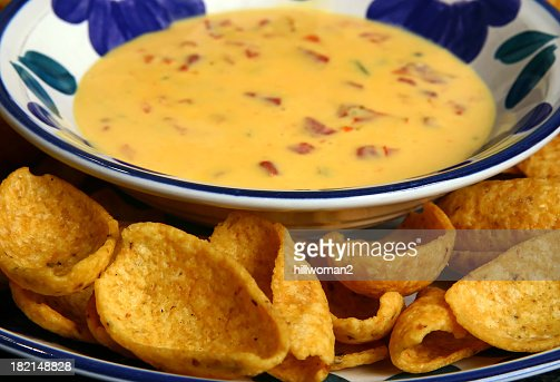 Cheese Dip and Corn Chips
