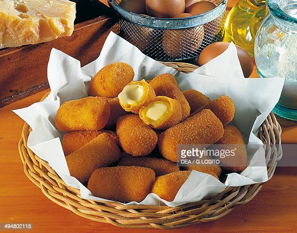 Cheese filled potato croquettes