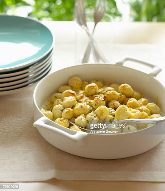 Cheese gnocchi, close-up