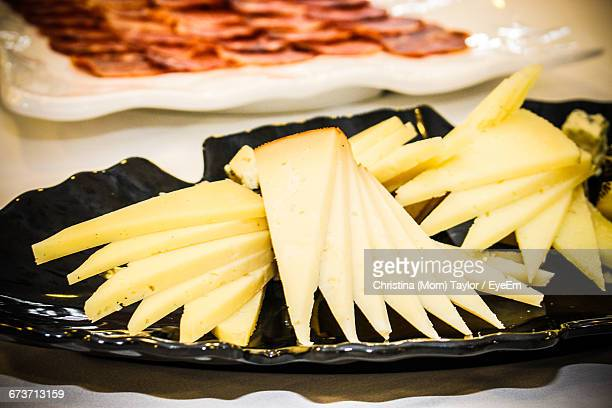 Cheese In Plate On Table