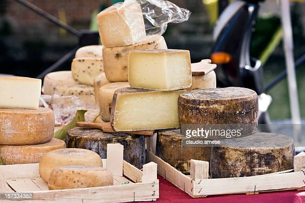 Cheese in Street Market. Color Image