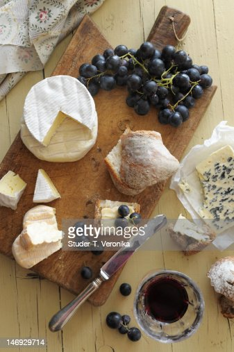 Cheese on board : Stock Photo