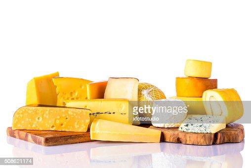 Cheese on White Background : Stock Photo