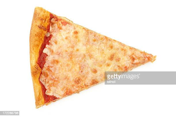 Cheese pizza slice isolated on white