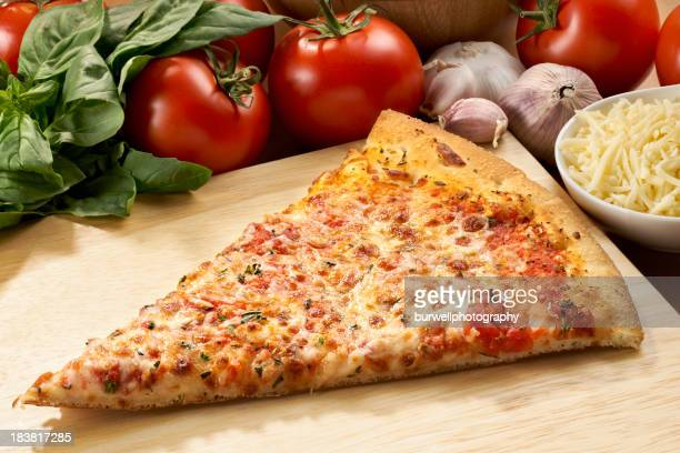 Cheese Pizza Slice with ingredients