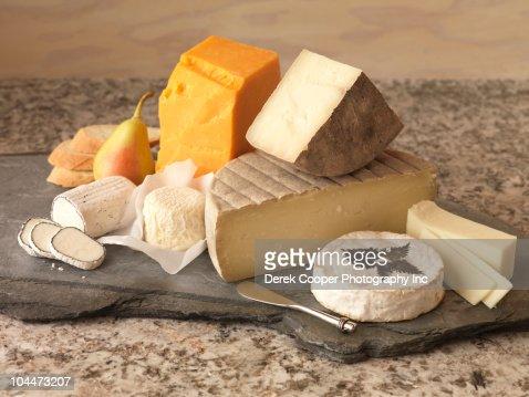 Cheese platter : Stock Photo