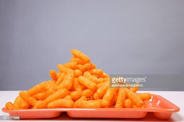 cheese puffs- orange lunch tray diet series