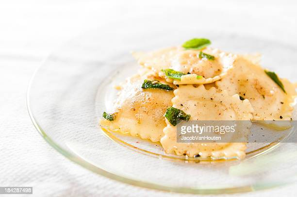 Cheese Ravioli in Brown Butter Sage Sauce