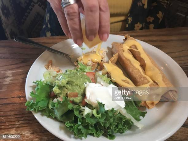 Cheese Sauce and Chicken Flautas in Texas 2
