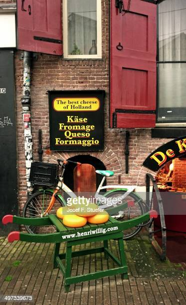 Cheese shop at the flower market in Amsterdam