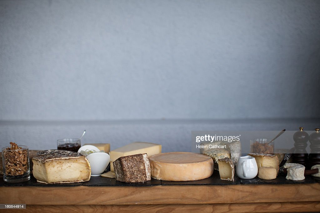 Cheese Trolley in Bourget du Lac : Stock Photo