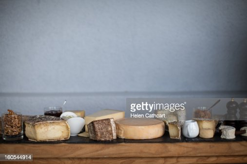 Cheese Trolley in Bourget du Lac : Bildbanksbilder