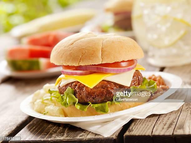 Cheeseburger and Lemonade