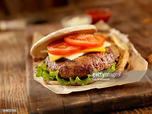 BBQ CheeseBurger with Lettuce and Tomato