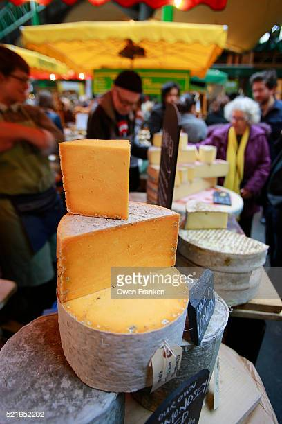 cheeses for sale - Borough Market, London -