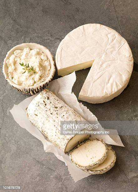 Cheeses on slate
