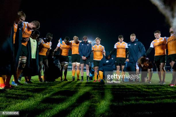 Cheetahs players after the Guinness PRO14 Round 8 rugby match between Connacht Rugby and Toyota Cheetahs at the Sportsground in Galway Ireland on...