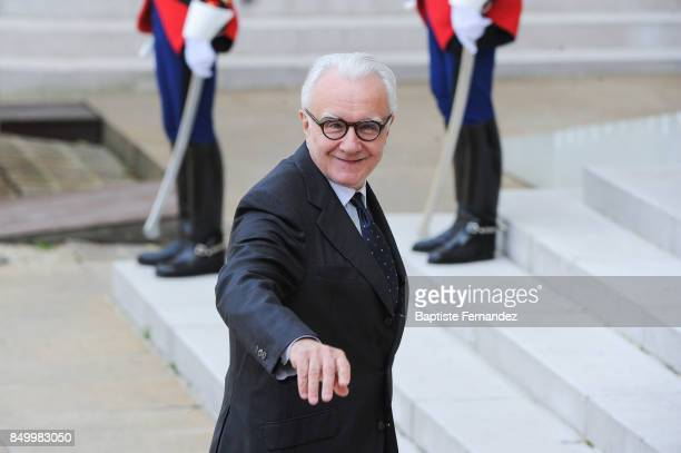 Chef Alain Ducasse during the reception of the CIO by the French President at Elysee Palais on September 15 2017 in Paris France