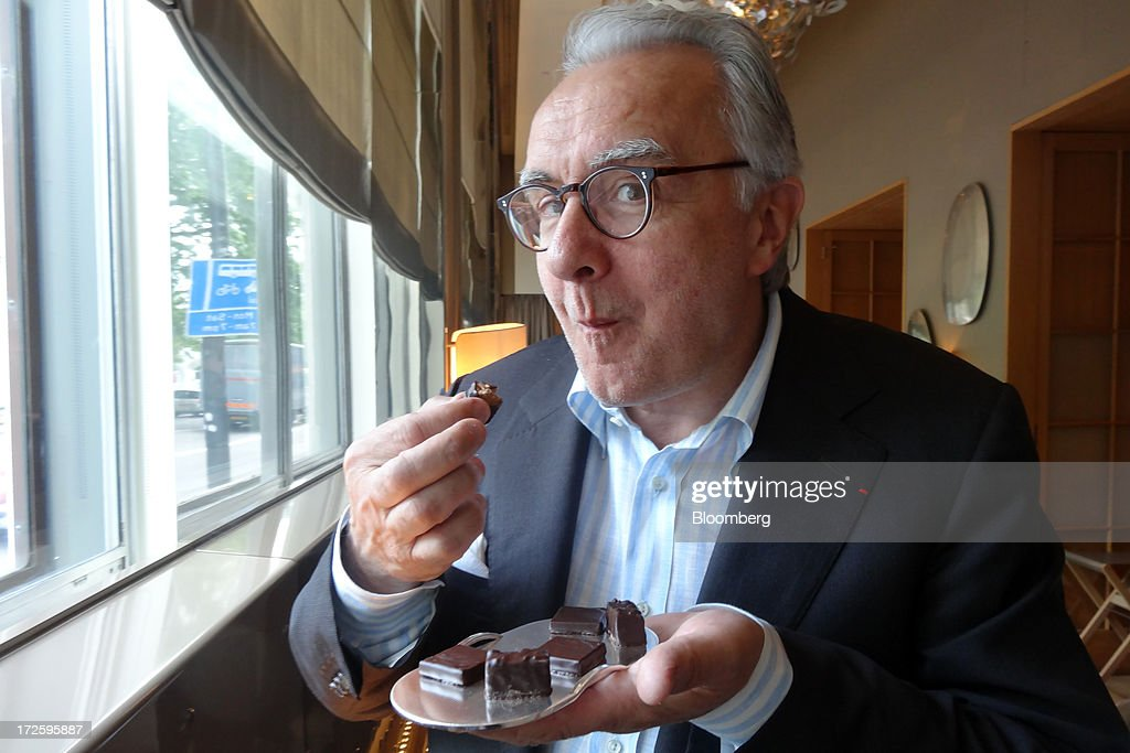Chef Alain Ducasse samples his chocolates in London UK on Tuesday June 25 2013 Ducasse says he almost became a chocolatier rather than a chef after...