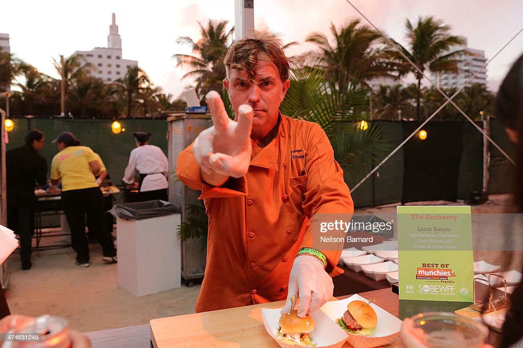 Chef Alan Hughes attends Best of The Munchies: People's Choice Food Awards Presented by PepsiCo Hosted by Andrew Zimmern during the Food Network South Beach Wine & Food Festival at Beachside at The Ritz Carlton on February 23, 2014 in Miami Beach, Florida.