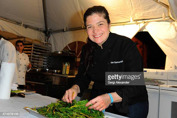 Chef Alex Guarnaschelli attends Vegetarian Dinner Hosted By Alfred Portale And Alex Guarnaschelli With Matthew Kenney during the Food Network South...